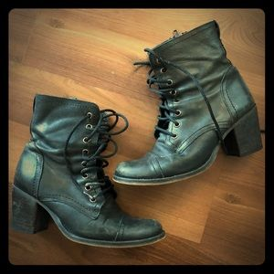 Steve Madden heeled combat style boots